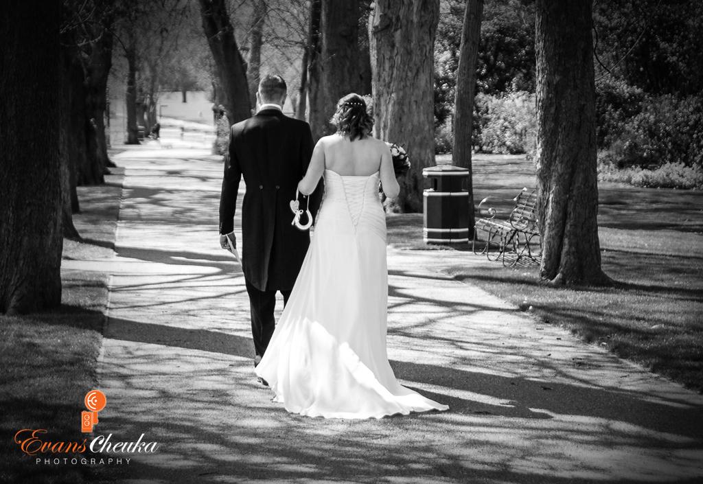Walking Couple wedding Photography in Stafforshire Lichfield